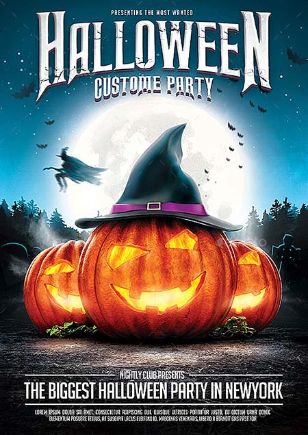 10_ Halloween Party Flyer v.2