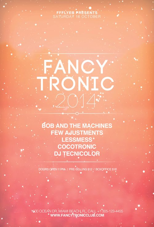 Fancy Tronic Free Indie Club Flyer Template