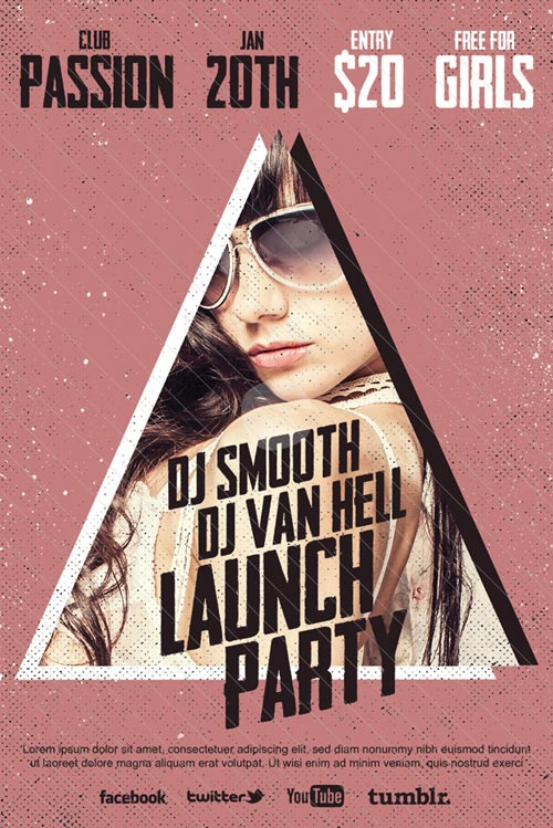 DJ Launch Party Free Club Flyer Template