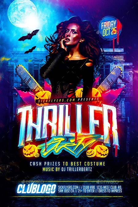 5_ Thriller Halloween Party Flyer