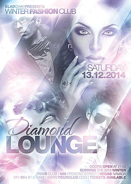 7_ Diamond Lounge Winter Flyer Template