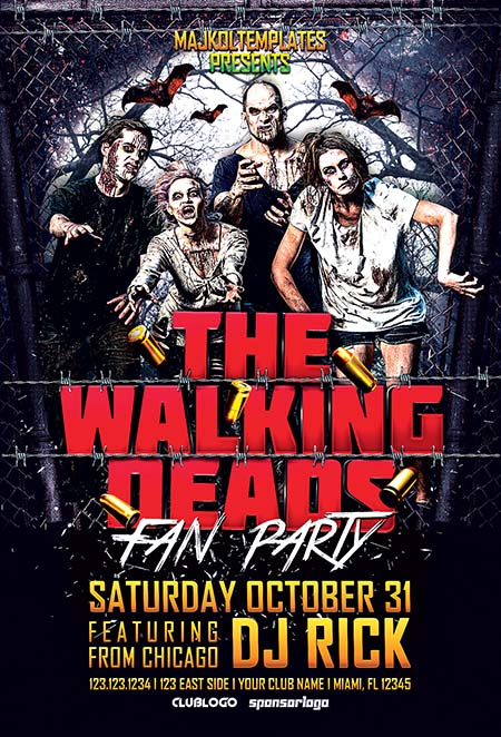 7_ Walking Deads Fan Party Flyer