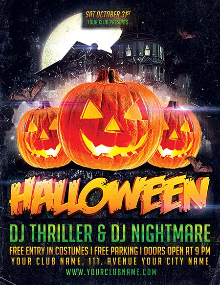 8_ Halloween Party Poster 2014