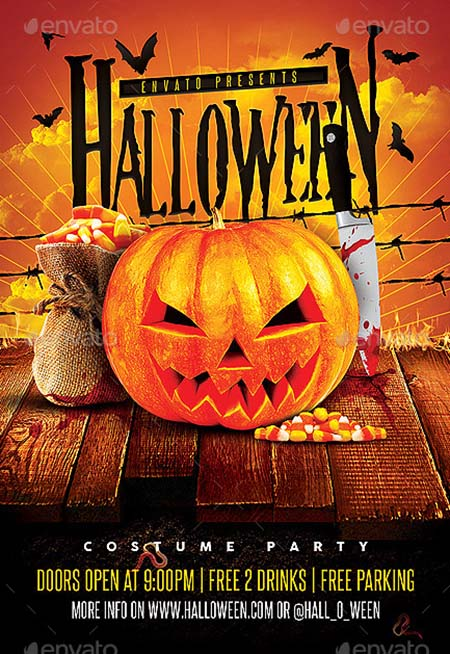 9_ Halloween Party Night Template