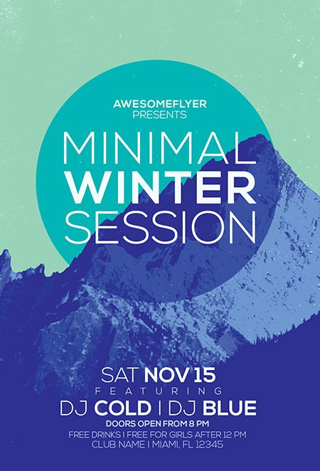 9_minimal_winter_party_awesomeflyer