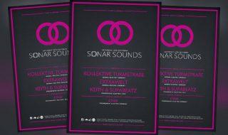 Sonar Sound Vol. 2 Minimal Electro Free PSD Flyer Template