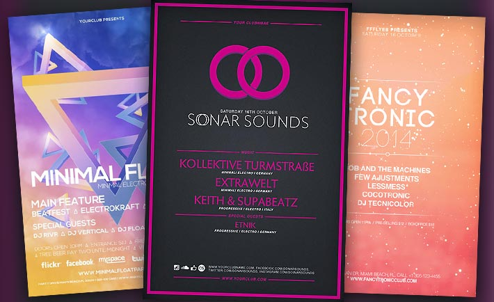 Best Free Flyer Templates No.1 - Electro Flyer