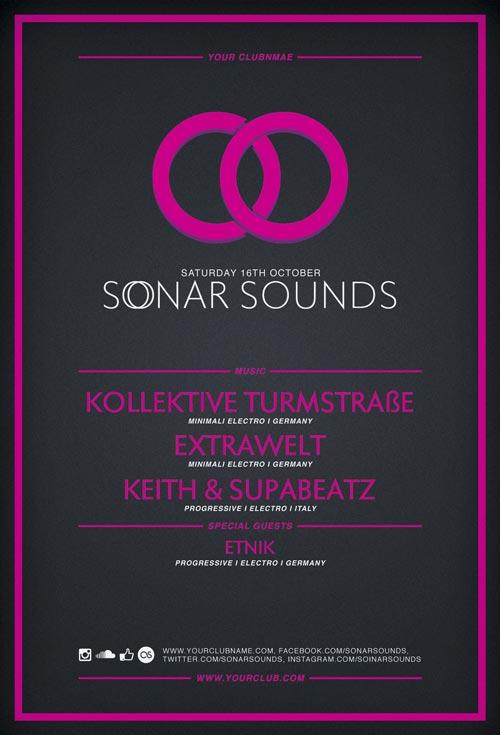 Free Flyer: Sonar Sound Vol.2 Minimal Electro Template