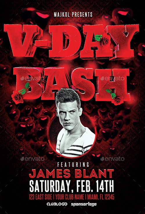 V-Day Bash Flyer Template
