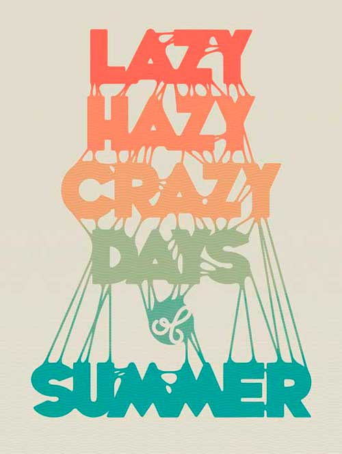 Create a Sticky Summer Typography Printable Poster in Illustrator