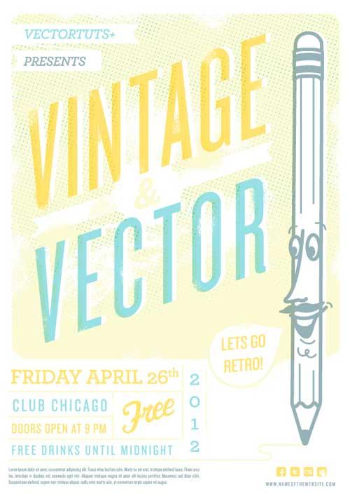 Vintage Vector Design Workflow: Creating a Retro Flyer Design