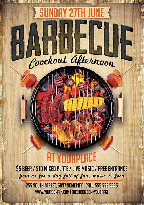 Barbeque Flyer Barca Selphee Co