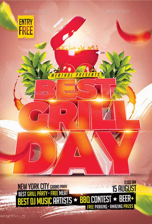 Best Grill Day Flyer