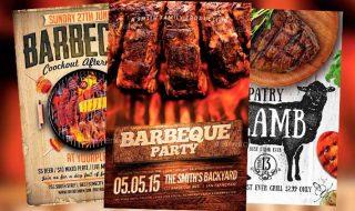 Tasty BBQ Flyer Templates for Summer 2015