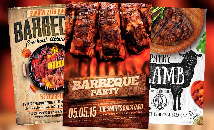 Tasty BBQ Flyer Templates for Summer 2015