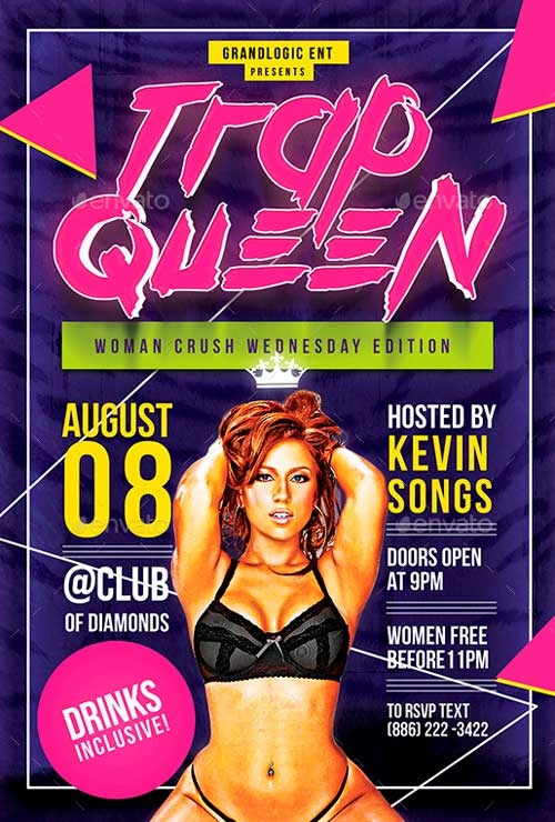 Trap Queen Party Flyer/Poster
