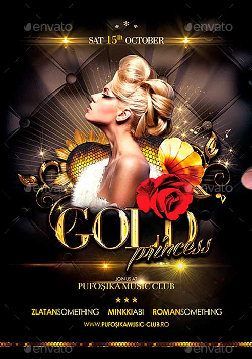 Gold Princess Poster/Flyer