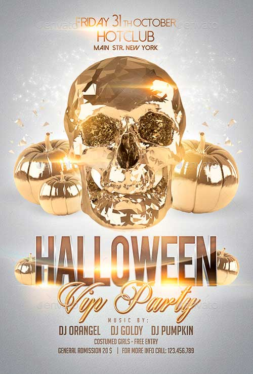 Halloween Flyer + Fb Timeline Vip Party