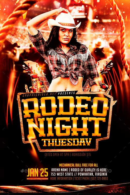 Rodeo Night Tuesdays | Flyer Template PSD
