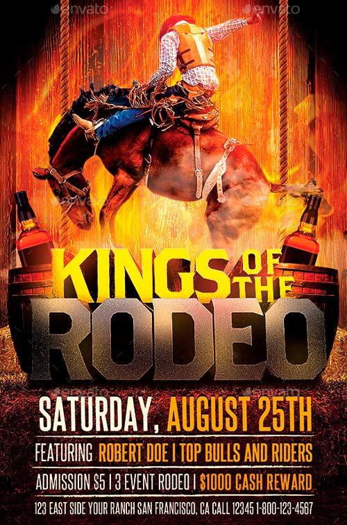 Kings of the Rodeo Flyer Template