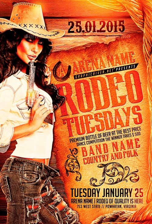 Rodeo Tuesdays | Flyer Template PSD