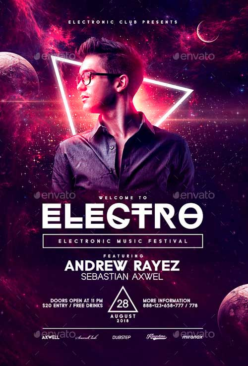 Electro Flyer Template PSD