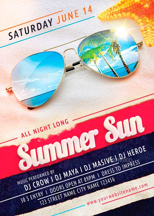 Summer Sun Flyer Template