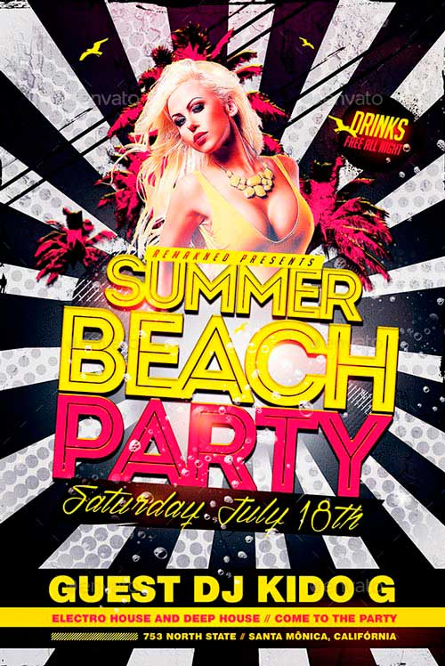 Summer Beach Party | Flyer Template PSD