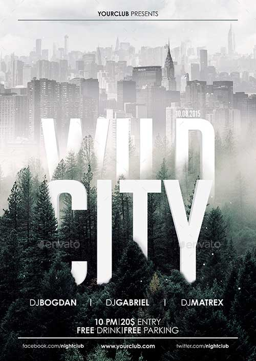 Wild City Flyer Poster