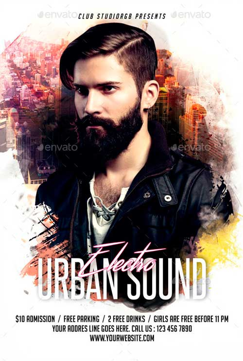 Electro Urban Sound Flyer Template