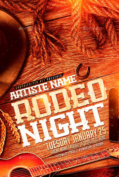Rodeo Night | Flyer Template PSD