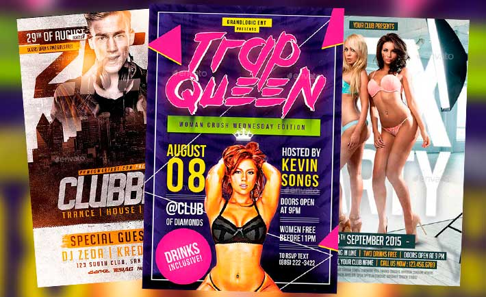 Best Club Party Flyer Templates No.3