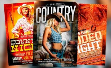 Best 20 Country and Western Style Flyer Templates