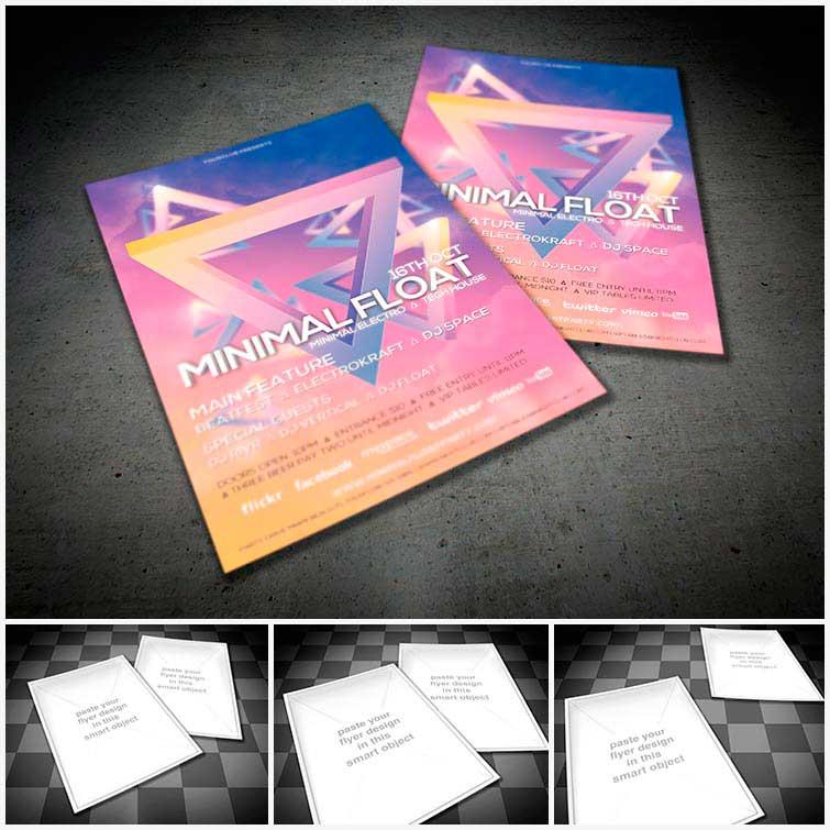 Freebie Download Free Flyer Mock Up Pack Vol.1