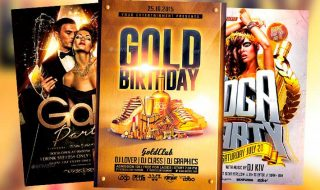Best 20 Golden and Luxury Flyer Templates