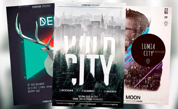 Electro Flyer Templates For Photoshop  Download Electro Dj Psd Flyer