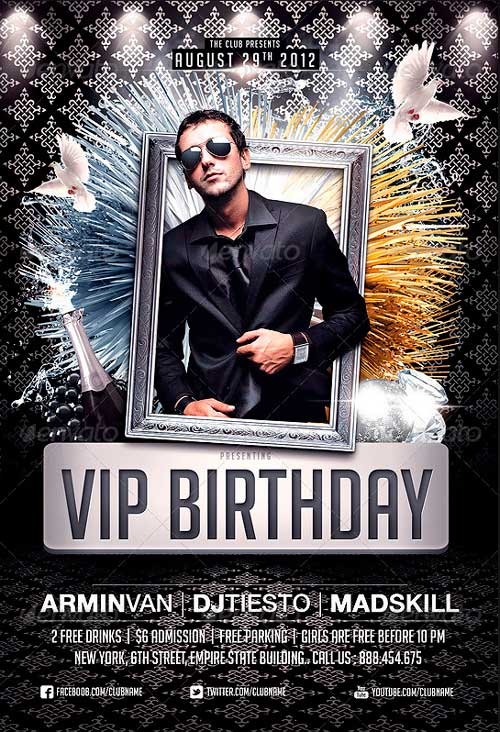 VIP Birthday Party flyer