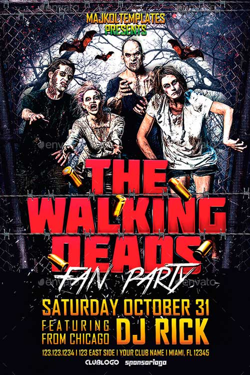 Walking Deads Fan Party Flyer