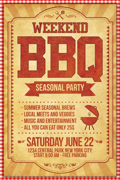 BBQ Barbecue Flyer