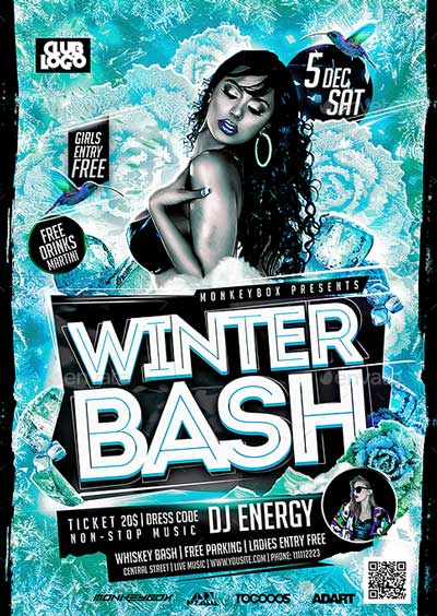 Flyer Winter Bash Konnekt