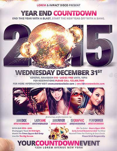 High Impact New Year's Eve Countdown Flyer/Poster
