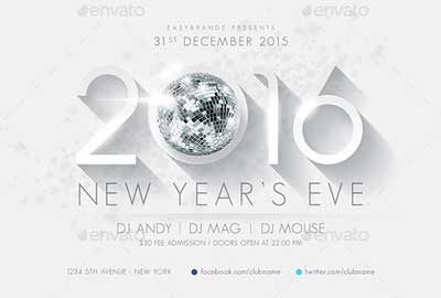 2016 New Year's Flyer Template