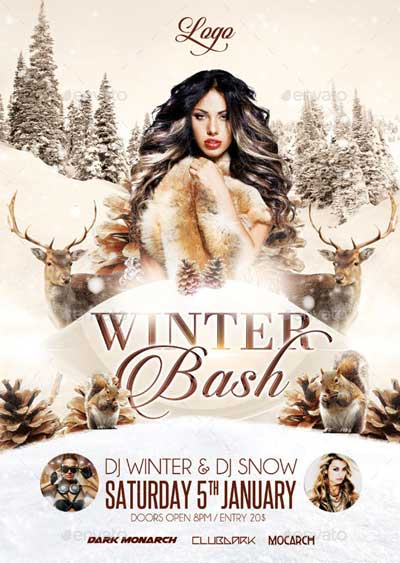 Winter Bash Party Flyer