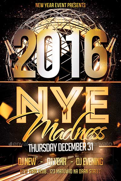 2016 NYE Madness Flyer