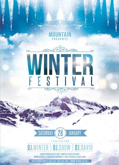 free winter flyer templates