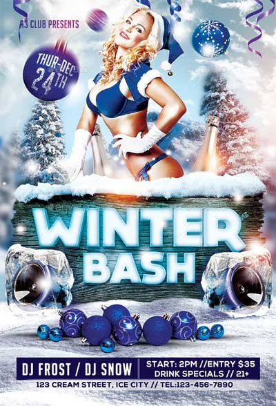 Winter Bash Flyer + FB Cover