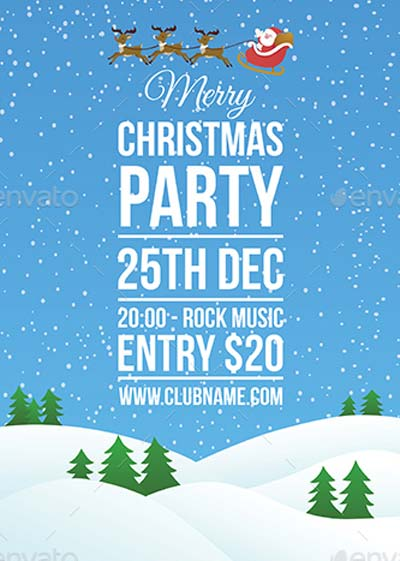 Merry Christmas Party Flyer