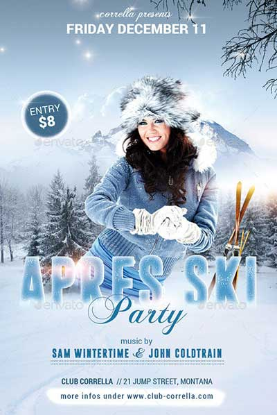 Apres Ski Winter Party Flyer