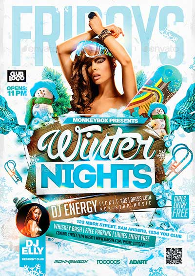 Flyer Winter Nights Konnekt
