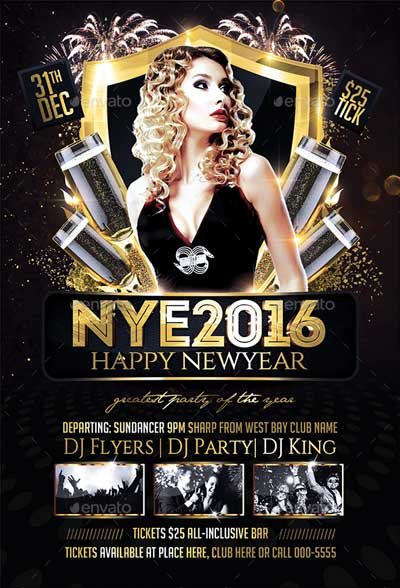 New Year Party Flyer V02